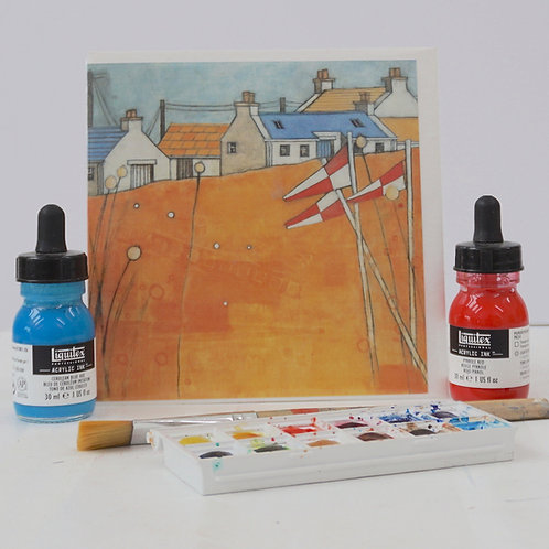 """Art Card of """"Boatcroft Flags"""""""