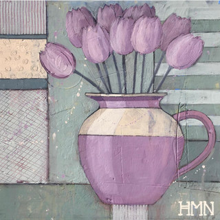 Purple Tulips - SOLD