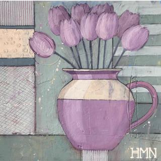 Purple Tulips - SOLD