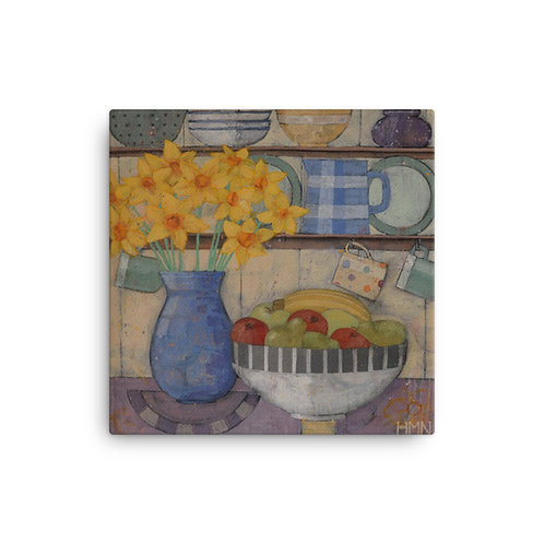 Canvas Print: Daffodils in the Kitchen