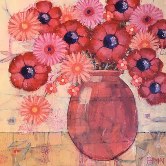 Reds and Pinks - SOLD