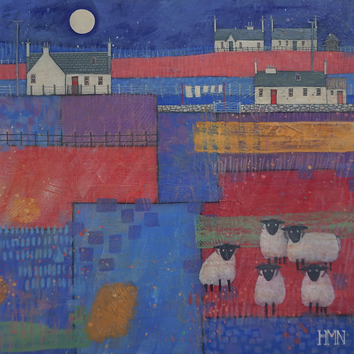 Moonlit Meeting - currently available at Zenwalls Gallery, Peebles
