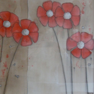 Red Daisies - SOLD