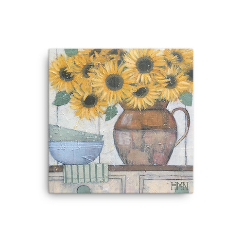Canvas Print: Sunflowers in the Kitchen