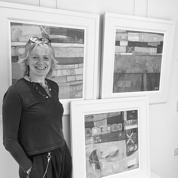 Me beside 3 abstracts L (B and W).jpg