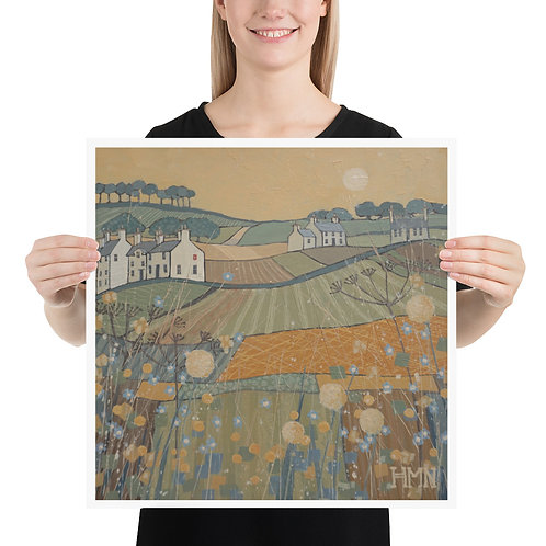 Print: Sunset over the Fields