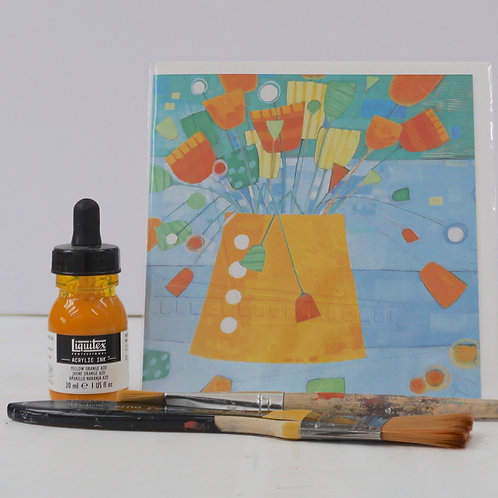 "Art Card of ""Mad Orange"""