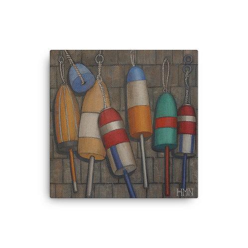 Canvas Print: Buoys on Shingles