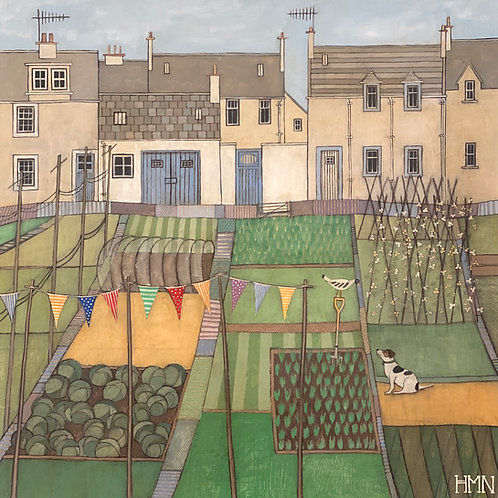 The Allotment Dog - currently available at Zenwalls Gallery, Peebles