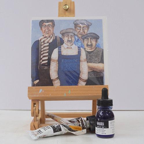 """Art Card of """"The Trawler Crew"""""""