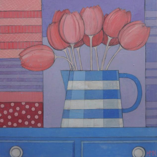 Tulips in the Milk Jug