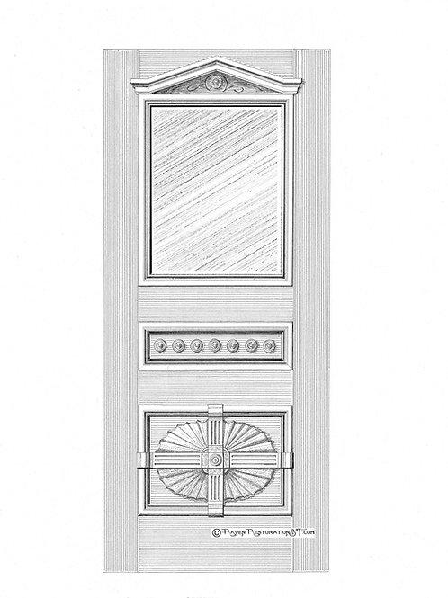 Classic Divided Fan San Francisco Victorian Front Door