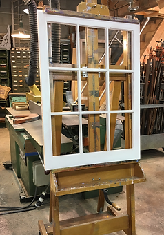 custom wooden replacement window for installation