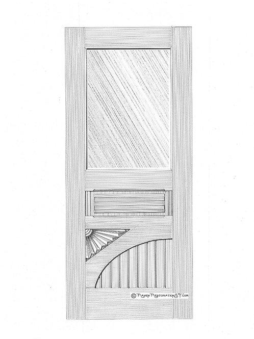 Classic Eastlake Fan 1SL Victorian Front Door