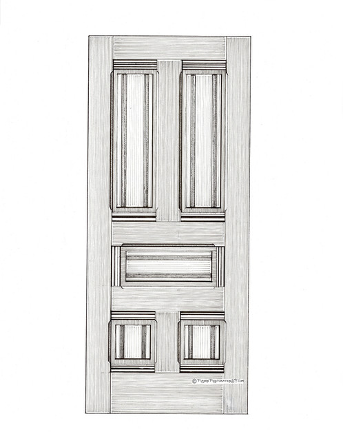 This Replica Door Is One Of Several Of The Most Common Doors In SF And Can  Be Found Throughout This Is A Heavy Exterior Door.