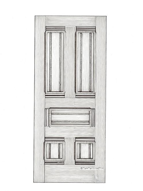 Classic Eastlate 5-Panel San Francisco Victorian Edwardian Front Door
