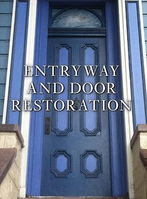 antique Victorian door restoration & repair in San Francisco. Victorian facade restoration parts