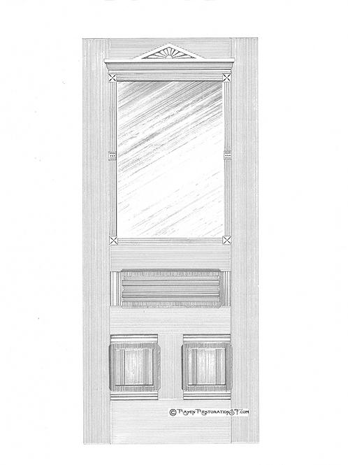 Classic Eastlake 1LF San Francisco Victorian Front Door