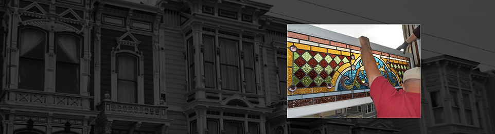 restoration of Antique Victorian Stained Glass Window in San Francisco