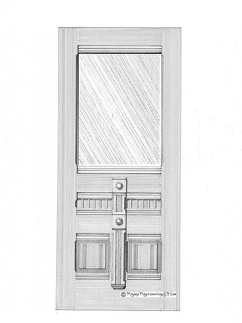 Blue Fog 1L San Francisco Victorian Edwardian Front Door