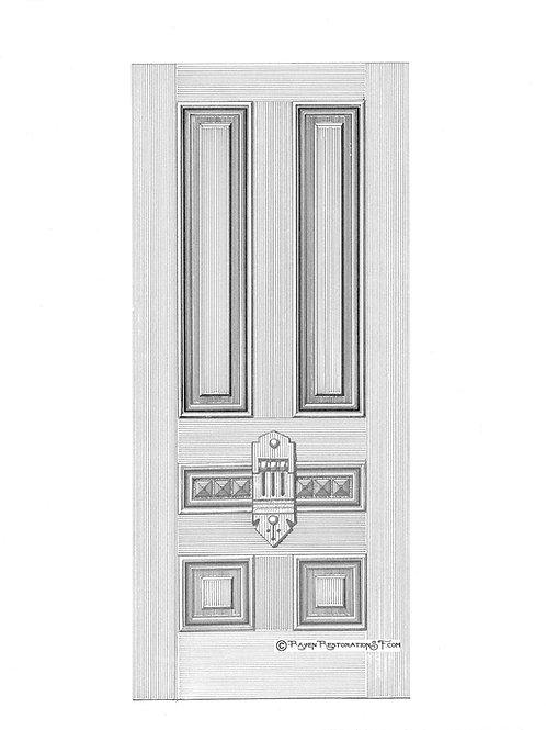 Geary Panels San Francisco Victorian Edwardian Front Door