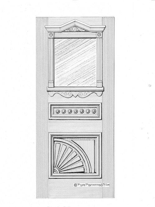 Classic SF Sunburst 1L San Francisco Victorian Front Door