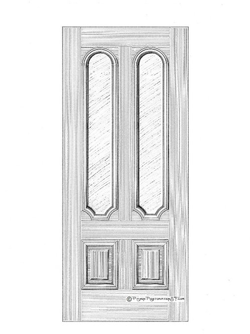 Arch & Scallop San Francisco Victorian Edwardian Front Door