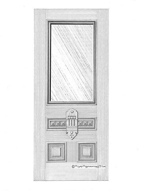 Geary 1L San Francisco Victorian Front Door