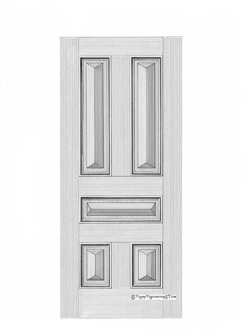 Apex 5-Panel San Francisco Victorian Edwardian Front Door
