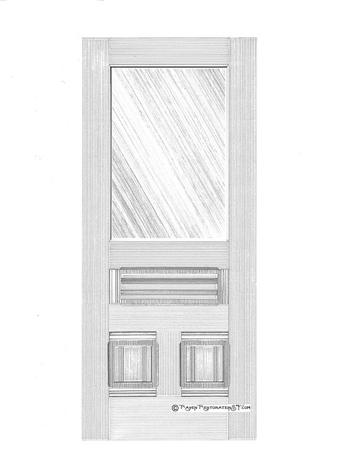 Classic Eastlake 1LS San Francisco Victorian Edwardian Front Door