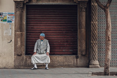 Muslim in Morocco Street