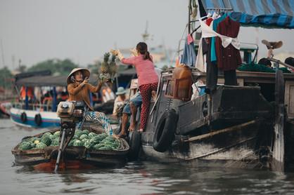 Schwimmender Markt Vietnam Mekong Delta