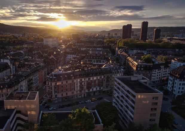Lochergut Sonnenuntergang Zürich