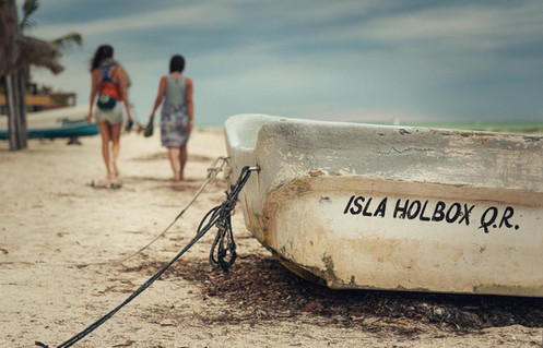 Old Boat Isla Holbox Mexico