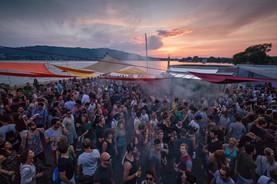 Sonnenuntergang Zürichsee Party