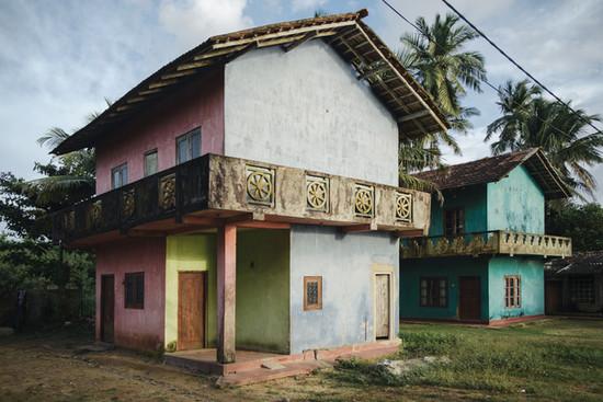 Bunte Häuser Sri Lanka