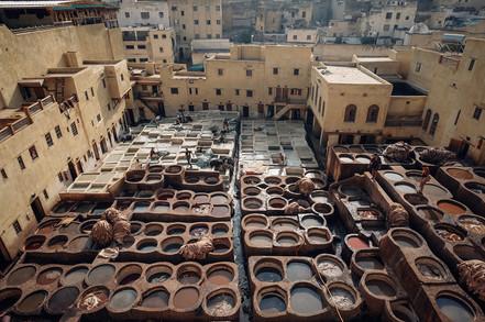 Grosse Gerberei Fes Marokko