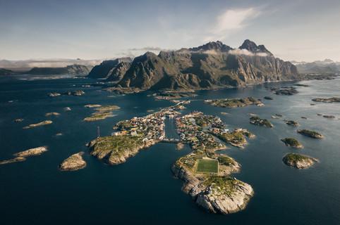 Lofoten Norway Drone Photography Henningsvær
