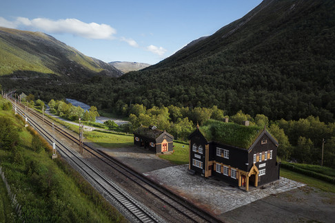 Norway Valley TrainStation Mountains
