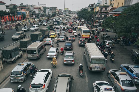 Traffic Jam Hanoi Vietnam