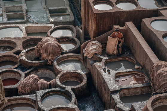 Leather Tannery Morocco