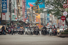 Viele Mottorräder Vietnam Hue