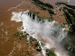 Wasserfälle Brasilien Iguazu Drone