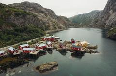 Red Housing in Norway Fishing