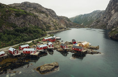 Red Housing in Norway Fishing
