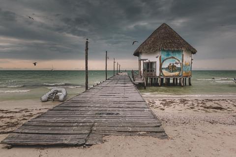 Isla Holbox Holzsteg Mexiko