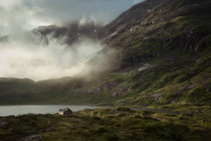 Lonely house norway landscape