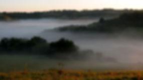 Les prairies autour de La Ferme de Taux à Castex