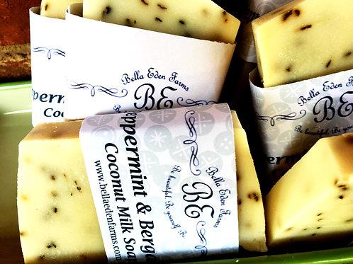 Peppermint & Bergamot Coconut Milk Soap