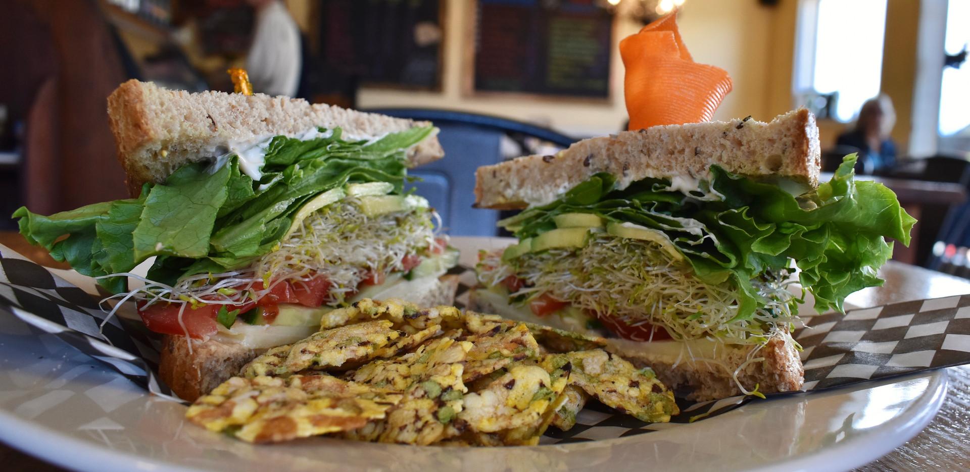 Coaster Veggie Sandwich